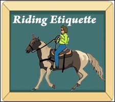 Horse Riding etiquette
