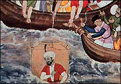 Alexander the Great is Lowered into the Sea
