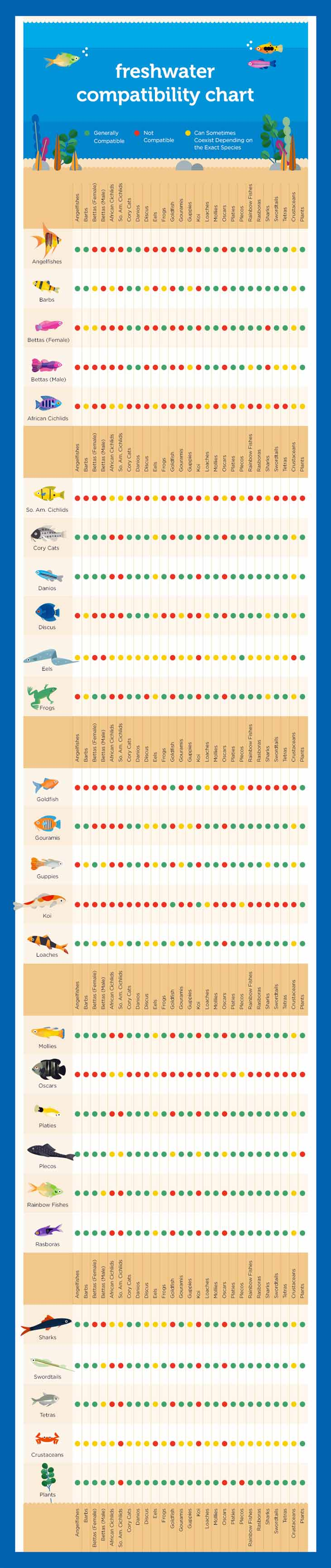 Freshwater Fish Compatibility Chart