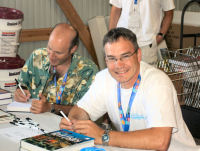 Book signing with Scott Michael (right) and Julian Sprung (left)
